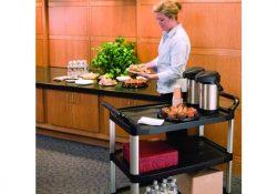Gør arbejdet nemmere med en praktisk serveringsvogn